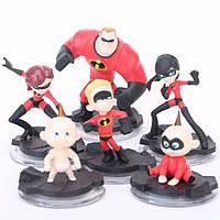 Фигурки героев мультфильма Суперсемейка 6 штук, фото 1