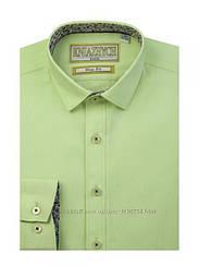 Рубашка для мальчика ТМ Княжич, арт. Lime slim, возраст от 6 до 15 лет
