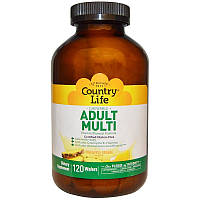 """Жевательные поливитамины для взрослых Country Life """"Adult Multi"""" со вкусом ананаса и апельсина (120 пастилок)"""