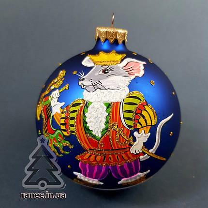 "Стеклянный шар на елку ""Символ года"" 100416, фото 2"