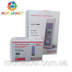 Глюкометр Gamma Mini + 50 тест-смужок