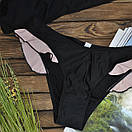 Купальник женский раздельный черный с рюшем, фото 3