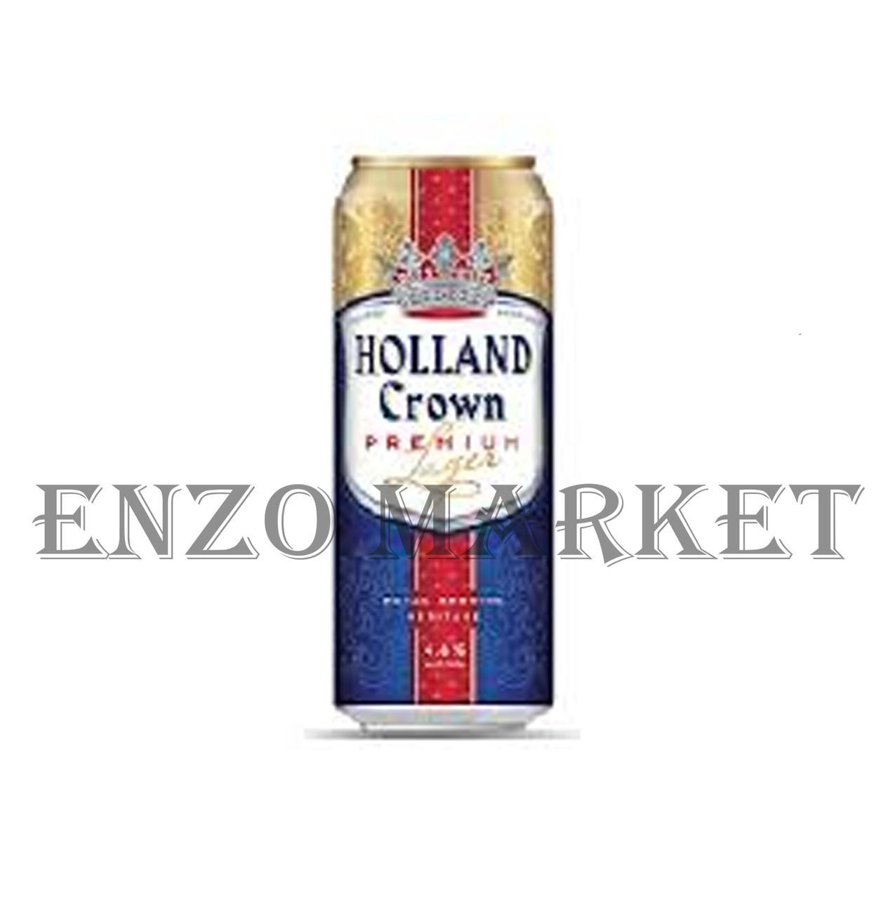 Пиво Holland Crown Premium Lager, 0,5 л ж/б