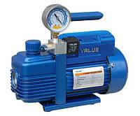 Вакуумный насос Value V-i140SV (1 ступенчатый вакуумный насос, 100 л/мин) с вакуумметром и отсечным клапаном