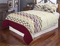 Двуспальный комплект постельного белья из натуральной ткани с узором