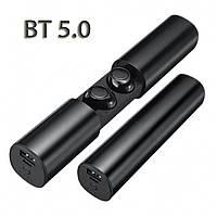 Беспроводные наушники блютуз гарнитура Wi-pods S2 водонепроницаемые. Bluetooth 5.0. Черные