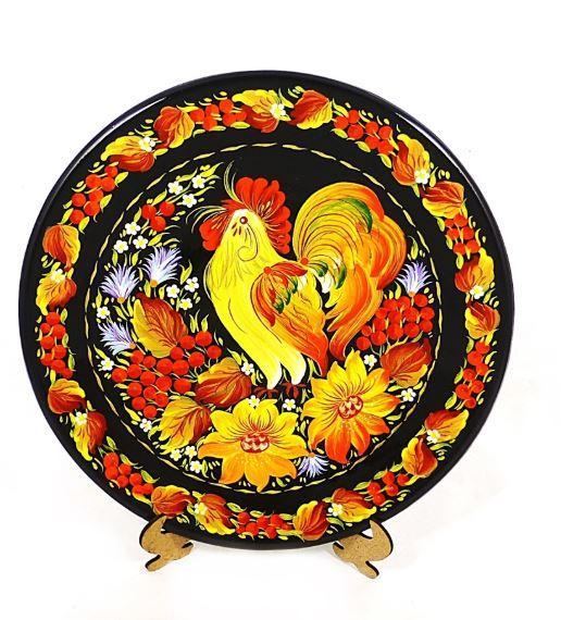 Модна тарілка Петриківські барви