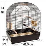 Клітка для середніх папуг GRETA FERPLAST, 69,5*44,5*H 84см, фото 2