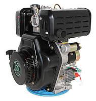 Двигатель дизельный Grünwelt GW192FВE  (9,5 л.с., вал шпонка Ø25 мм, электростартер) Бесплатная доставка