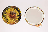Крышка для меда на стеклянную банку СОТА №12, Твист-офф 82мм