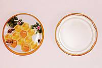 Крышка для меда на стеклянную банку СОТА №21, Твист-офф 82мм