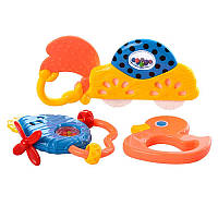 Брязкальце 8359A-1, 4 іграшки в наборі, в кульку, 23,5-20-3 см