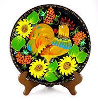 Декоративна тарілка з красивим півником