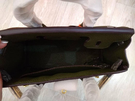 Сумка Эрмес Биркин 25 см, оливковая, фото 3