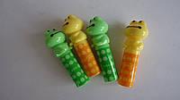 Набор защитных колпачков для карандашей лягушка (4шт).Защитные колпачки для карандашей и ручек лягушка.Захисні