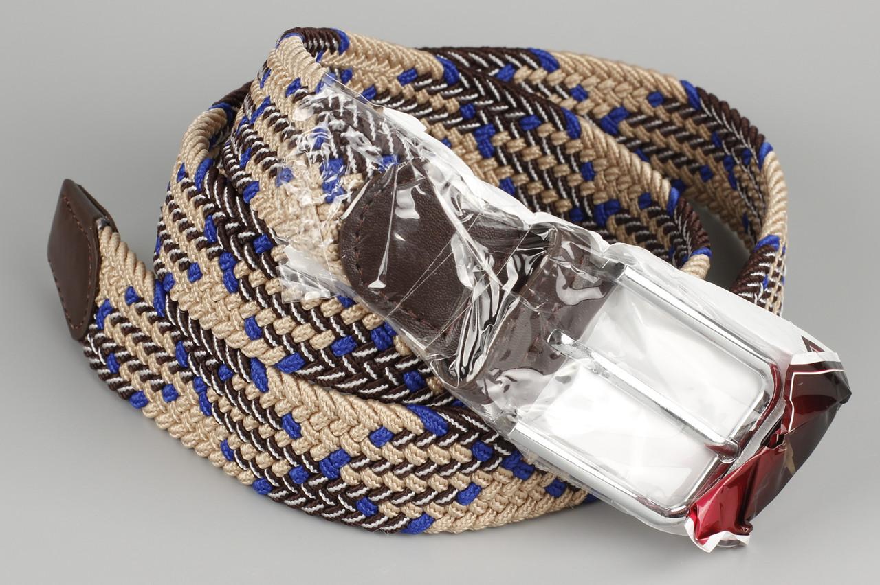 Ремень плетенка резинка на шпеньке 35 мм рябой