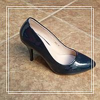 Женские туфли MeiDeLi 618-2 синий лак, 37,40