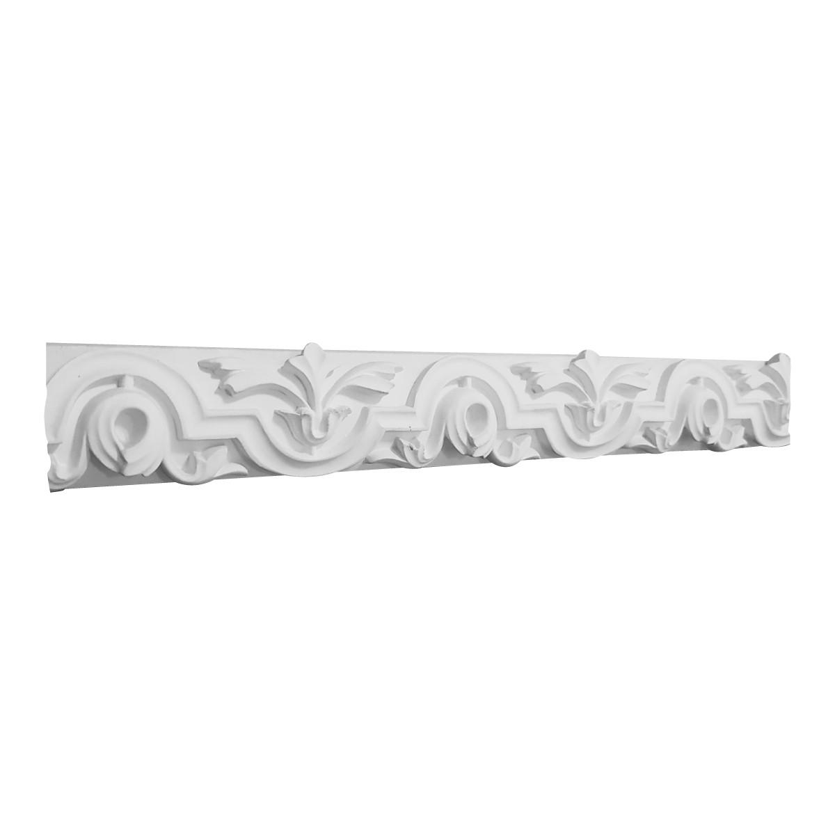 Декоративный фриз из гипса, гипсовый фриз с орнаментом Ф-21 h45 мм