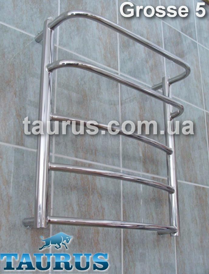 Небольшой, практичный полотенцесушитель н/ж Grosse 5-2 / 550х450 для ванной комнаты. TAURUS. Украина