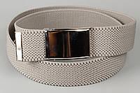 Ремень джинсовый резинка 40 мм светло-серый
