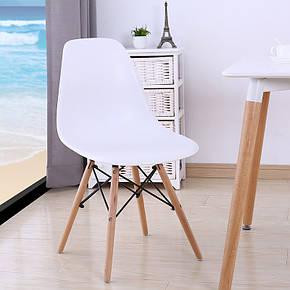 Стул Белый мега стильный пластиковый в современном стиле Nik, фото 2