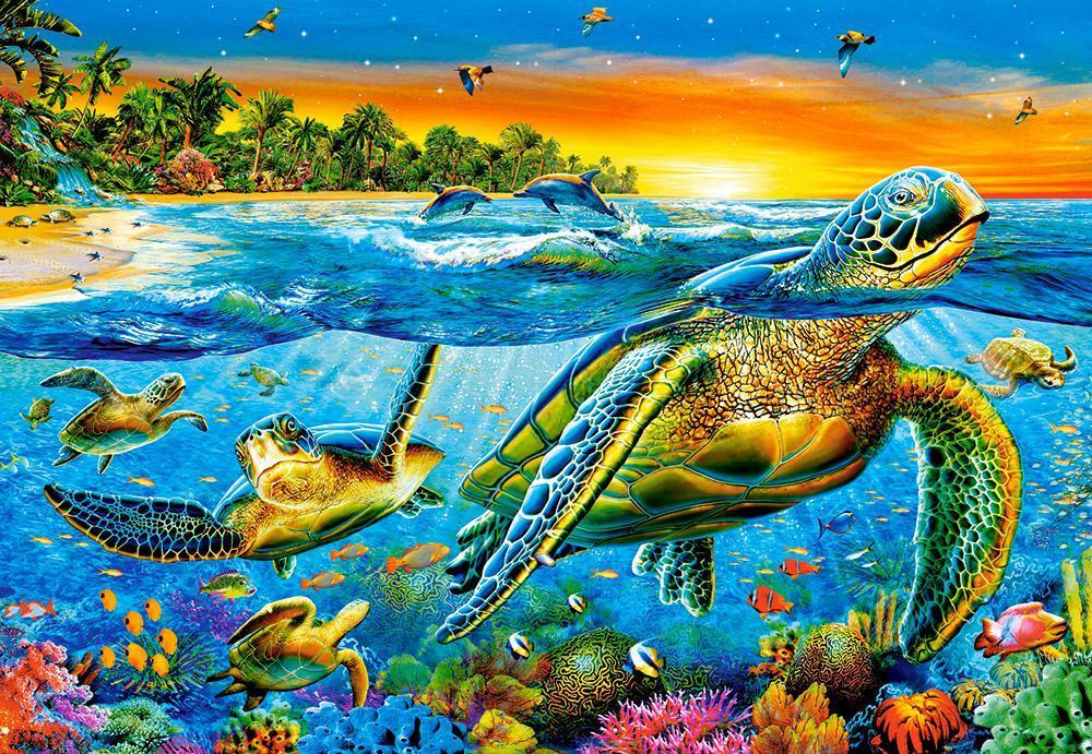 Пазлы Морские черепахи, 1000 эл.