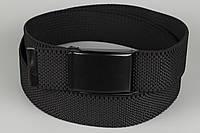 Ремень джинсовый резинка с открывалкой для бутылок на пряжке 40 мм черный, фото 1