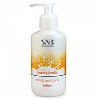 """Профессиональный лосьон для рук и тела линия """"Мед и Молоко"""" - SNB Professional Honey & Milk 250мл"""