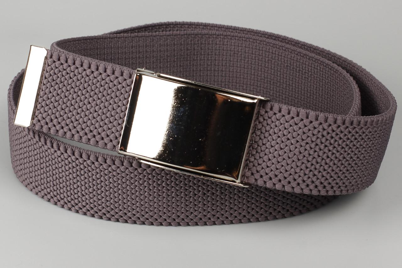Ремень джинсовый резинка с открывалкой для бутылок на пряжке 40 мм серый