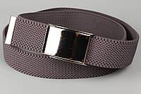 Ремень джинсовый резинка с открывалкой для бутылок на пряжке 40 мм серый, фото 1