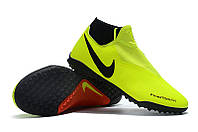 Футбольные сороконожки Nike Phantom Vision Academy DF TF Volt/Black/Light Crimson, фото 1