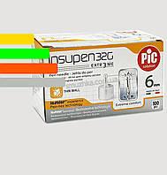 Голки Инсупен 6мм для шприц-ручок інсулінових - Insupen 32G, 100 шт.