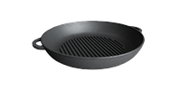 Сковорода гриль чугунная, d=260мм, h=40мм