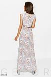 Летнее платье макси в цветочный принт голубое, фото 3