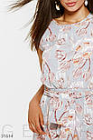 Летнее платье макси в цветочный принт голубое, фото 4