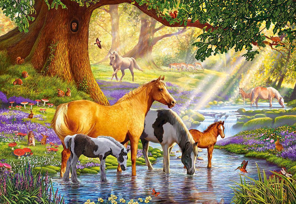 Пазлы Лошади у реки, 1000 эл.