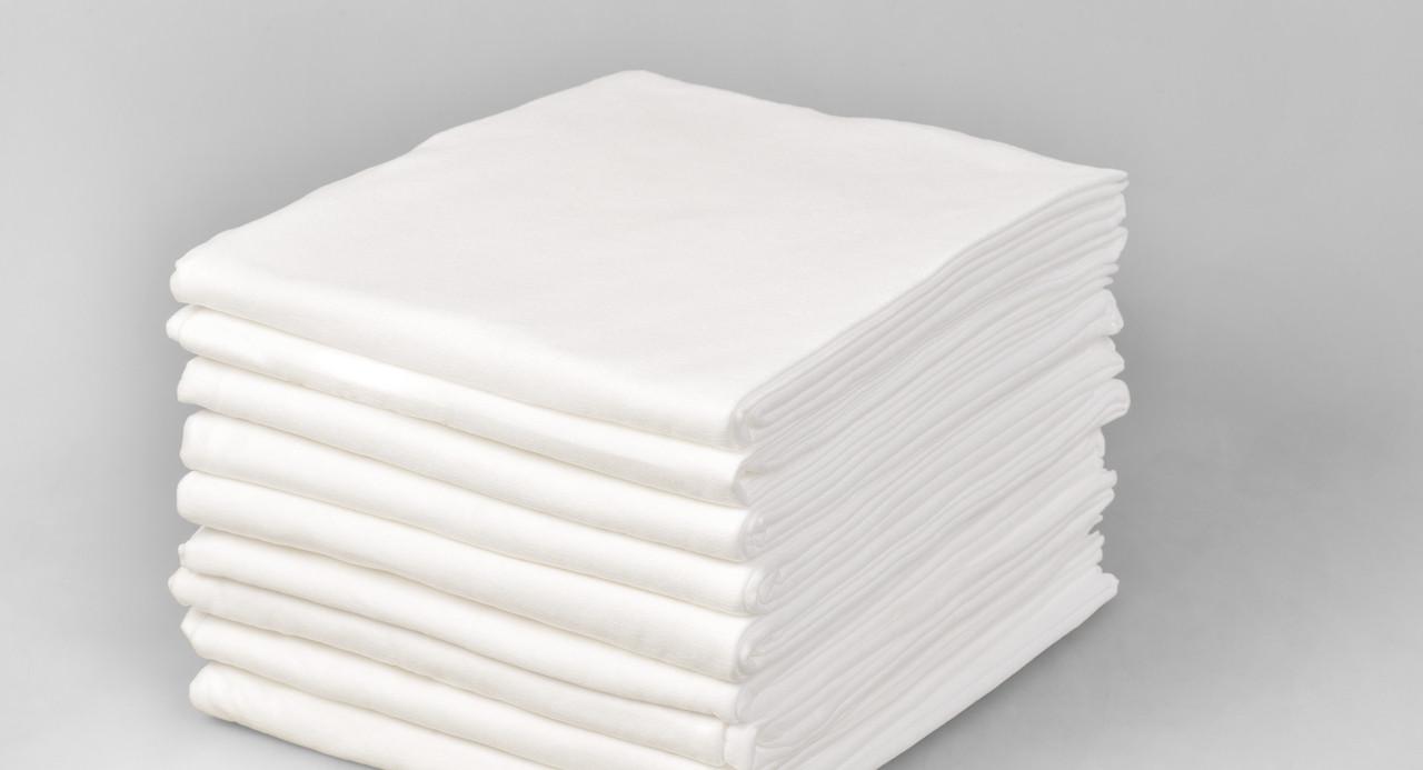 Одноразовые простыни в пачке Спанбонд Polix PRO&MED 25 г/м² 0,6x2 м 10 УП 500 ШТ Белые