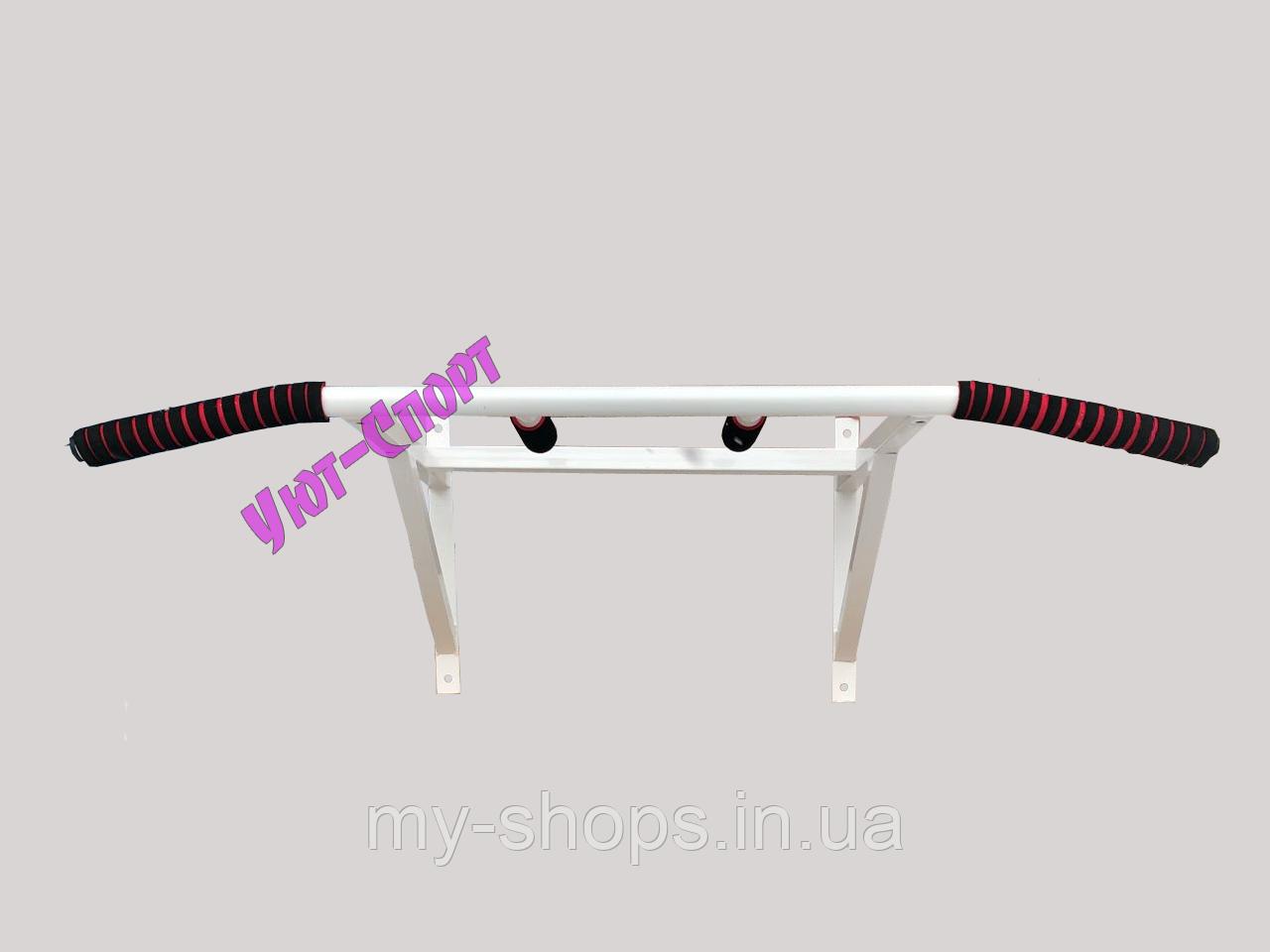 Турник усилиный (Олимпик)+параллельный хват-сварная конструкция (белый)