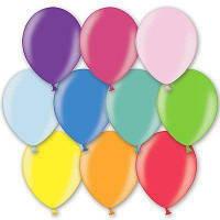 Воздушные шары Belbal Бельгия металлик ассорти 10,5' (27 см), 50 шт