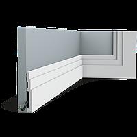 Плинтус напольный Orac Decor Axxent SX180,(1.6x12x200 см),лепной декор из дюрополимера.