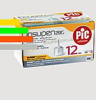 Иглы Инсупен 12мм для шприц-ручек инсулиновых - Insupen 29G, 100 шт.