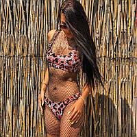 Женская сетка на пляж с мерцающими кристаллами черная