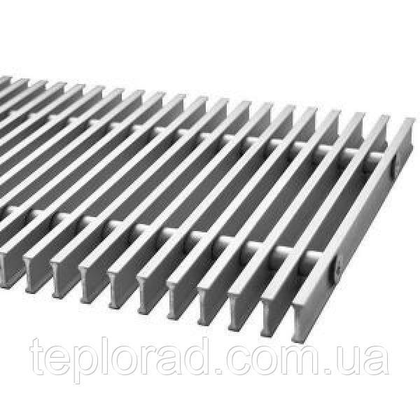 Решетка дюралюминиевая для внутрипольного конвектора Polvax шириной 160 мм 1000