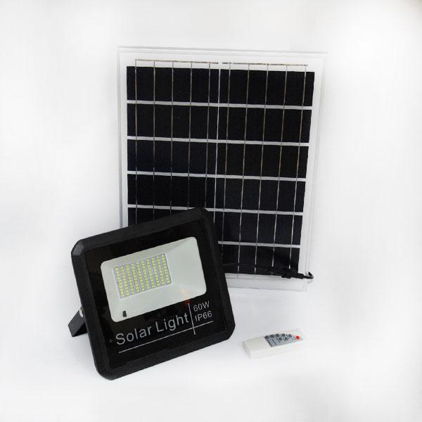 Светодиодный прожектор 60W на солнечной панели с пультом