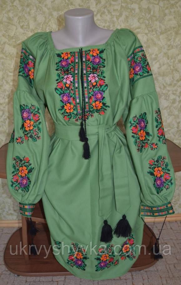 """Сучасне плаття """"Олімпія""""  зелене"""