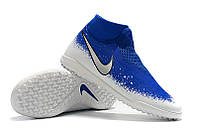 Футбольные сороконожки Nike Phantom Vision Academy DF TF Racer Blue/Chrome/White, фото 1