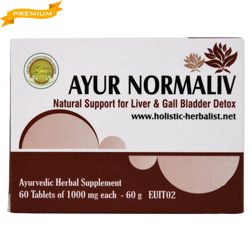 Аюр Нормалив (Holistic Herbalist) - естественная поддержка печени, 60 таблеток