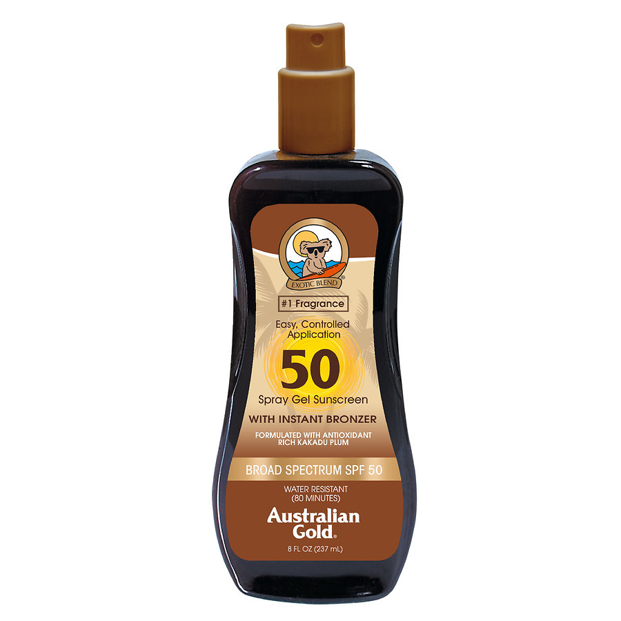 Спрей-гель с бронзатором для загара Australian Gold Spray Gel SPF 50