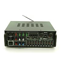 Стерео усилитель мощности звука AV-326BT / Ресивер / Проигрыватель / Тюнер / Аудио усилок громкости
