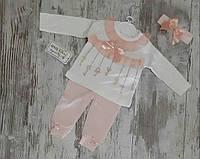 Нарядный костюм для новорожденных, на девочек 3-9 мес, Турция, оптом